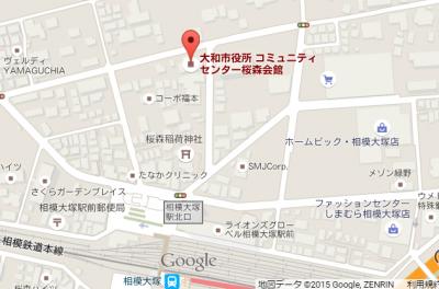 桜森会館(コミセン)地図